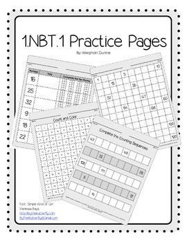 1.NBT.1 Practice Pages