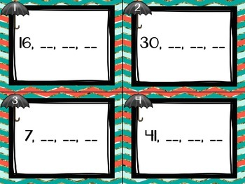 1.NBT.1 Task Cards Comparing Counting to 120