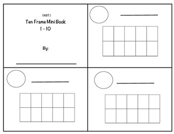 1.NBT.1 Ten Frame Mini Book 1 - 10