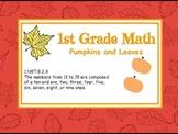 1.NBT.2. 1st Grade Math for Fall