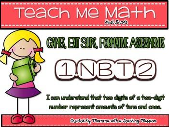 1.NBT.2 Place Value Math Centers Assessments Exit Tickets