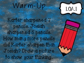 1.OA.1 Word Problems Warm-up