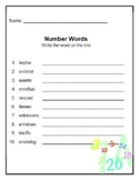 1.NBT.2 Review Worksheets