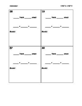 1.NBT.2 and 1.NBT.4 Assessments
