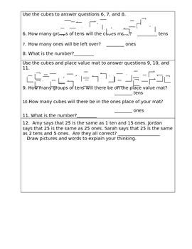 1.NBT.2.b Test for 1st Grade
