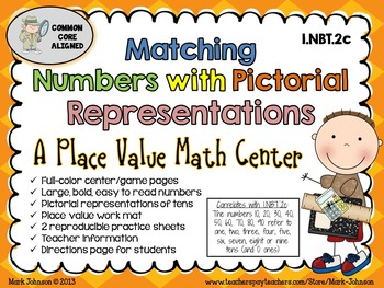 1.NBT.2c Matching Numbers with Pictorial Representations {Place Value Center}