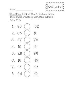 1.NBT.3 Assessments