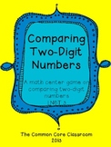 1.NBT.3 Comparing Two-Digit Numbers - Math Center Game