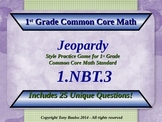 1.NBT.3 Jeopardy Game 1st Grade Math Compare Two Two-Digit Numbers 1.NBT.3
