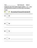 1NBT3 Math Homework Activity