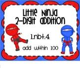 1.NBT.4 Adding 2 Digit Numbers Little Ninja SMARTBoard Lesson