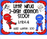 1.NBT.4 Adding 2 Digit Numbers Little Ninja SMARTBoard Lesson & Scoot Game