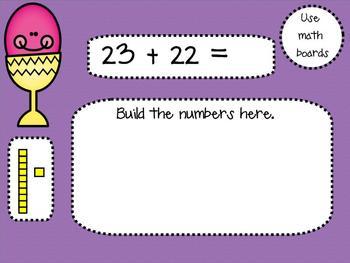 1.NBT.4 Adding 2 Digit Numbers SMARTBoard Lesson