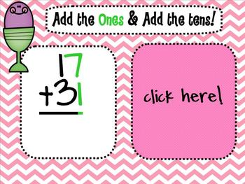 1.NBT.4 Adding 2 Digit Numbers SMARTBoard Lesson