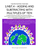 1NBT4 Multi-Cultural & Science Math Word Problems Common Core Aligned