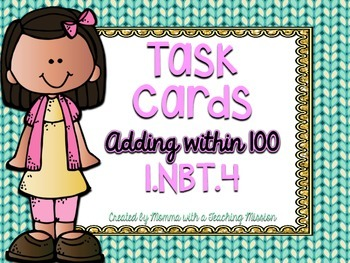 1.NBT.4 Task Cards Adding within 100