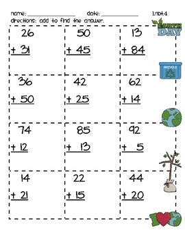 1.NBT.4 Two-digit Addition Without Regrouping