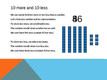 1.NBT.5 Common Core First Grade Math - 10 More or 10 Less