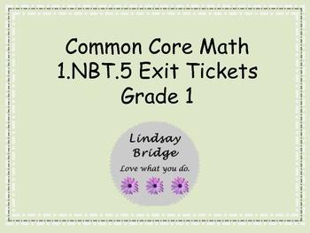 1.NBT.5 Exit Tickets