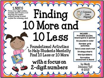 1.NBT.5  Foundational Activities for Mentally Finding 10 More and 10 Less