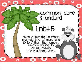 1.NBT.5 Ten More and Ten Less Dice SMARTBoard Lesson