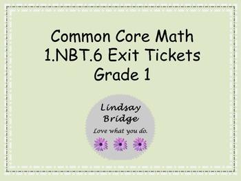 1.NBT.6 Exit Tickets