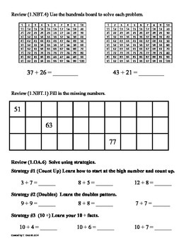 (1.NBT.6) Subtract Multiples of 10 -1st Grade Common Core Worksheets-4th 9 Weeks