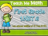 1.NBT.6 Subtract Multiples of 10 from 10-90 Math Centers Assessments Exit Ticket