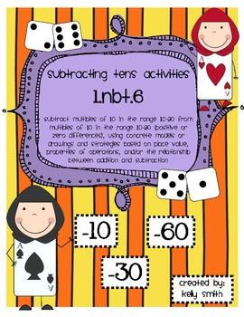 1.NBT.6 Subtract Multiples of Tens Activities