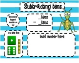 1.NBT.6 Subtracting Multiples of 10 Dice SMARTBoard Lesson