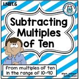 1.NBT.6 Subtracting Multiples of Ten from Multiples of Ten
