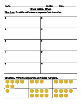 1.NTB.2 Place Value Worksheets and Assessments