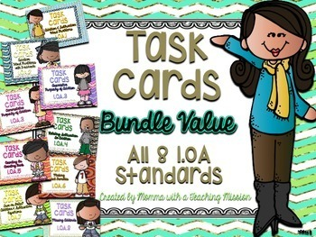 1.OA Task Cards Bundle Value