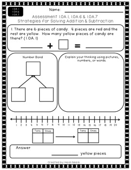 1.OA.1, 1.OA.6 & 1. OA.7 Strategies for Solving Addition & Subtraction Problems