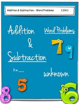1st Grade Math Worsheets - 1.OA.1