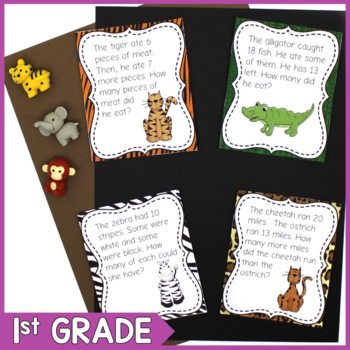 1st Grade Safari Math Word Problems