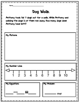 1.OA1 Subtraction Word Problems