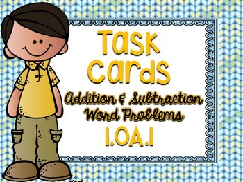 1.OA.1 Task Cards Addition and Subtraction Word Problems