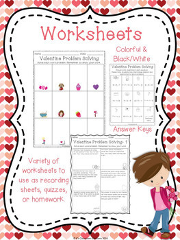 Valentine's Day Word Problems to 20
