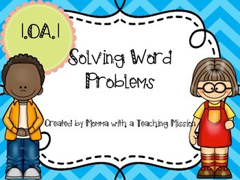 1.OA.1 Word Problem Task Cards Addition & Subtraction