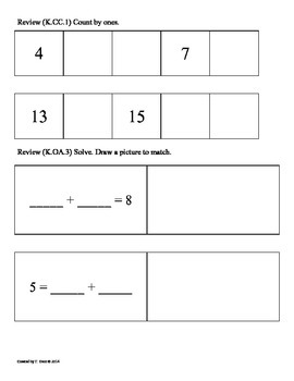 (1.OA.1) Word Problems -1st Grade Common Core Math Worksheets-1st 9 Weeks