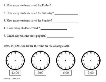 (1.OA.1) Word Problems -1st Grade Common Core Math Worksheets-3rd 9 Weeks