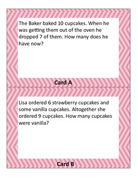 1.OA.1 2.OA.1  Word Problems Center, Bakery Bliss