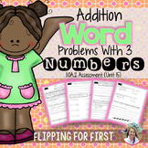 1.OA.2 Addition Word Problems with 3 Numbers Performance Assessment