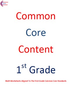 1.OA.2 Word Problems First Grade Common Core Math Workshee