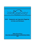 1OA3 - Commutative and Associative Properties - Activities and Worksheets
