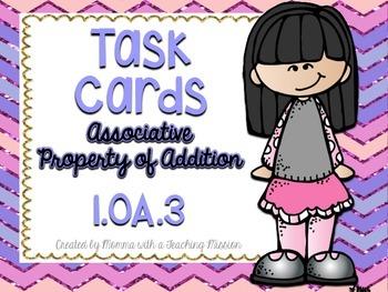 1.OA.3 Task Cards Associative Property of Addition