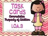 1.OA.3 Task Cards Commutative Property of Addition