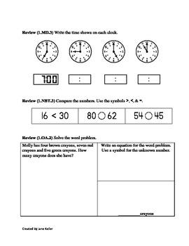 1.OA.4 First Grade Math Com... by Jane Keller | Teachers Pay Teachers