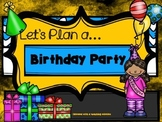 Project Based Learning 1.OA.5 1.OA.6 Let's Plan a Birthday Party